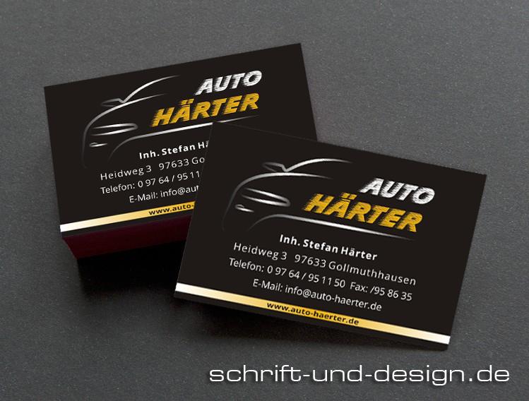 Visitenkarten Schrift Und Design